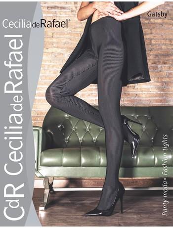 Cecilia de Rafael Gatsby Strumpfhose - Nadelstreifen-Strumpfhose aus hochwertigem Material, stabiler Griff, unkompliziert schnell trocknend in Ultrablickdicht