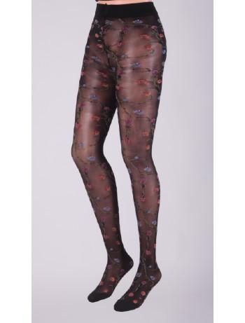 Dolci Calze Caroline Florale Strumpfhose black