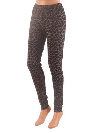 Esprit fashion Animal Print - Leggings schwarz
