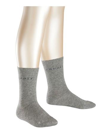 Esprit 2er Pack Logo Socken hellgraumeliert