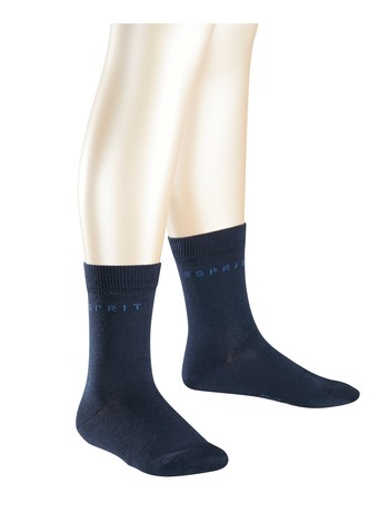 Esprit 2er Pack Logo Socken marine