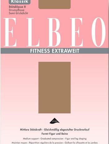 ELBEO Fitness Stuetzstrumpfhose Extraweit Stuet...
