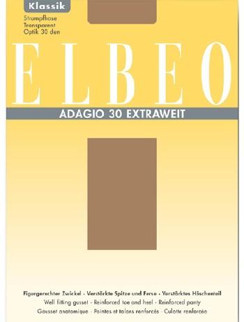 ELBEO Adagio 30 Strumpfhose Extraweit, im Nylon und Strumpfhosen Shop