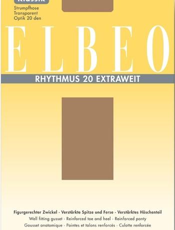 ELBEO Rhytmus Extraweit Feinstrumpfhose, im Nylon und Strumpfhosen Shop
