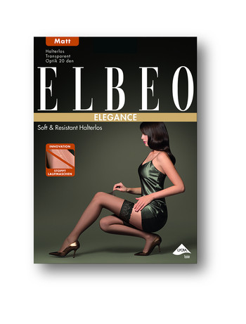 Elbeo Soft and Resistant 20 halterloser Strumpf, im Nylon und Strumpfhosen Shop