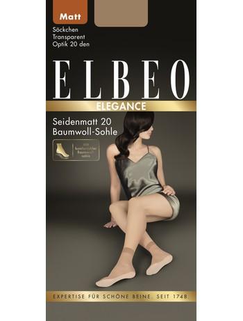 ELBEO Seidenmatt 20 Feinsoeckchen mit Baumwollsohle, im Nylon und Strumpfhosen Shop
