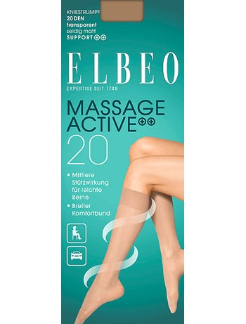 Elbeo Support Massage Active 20 Kniestrumpf