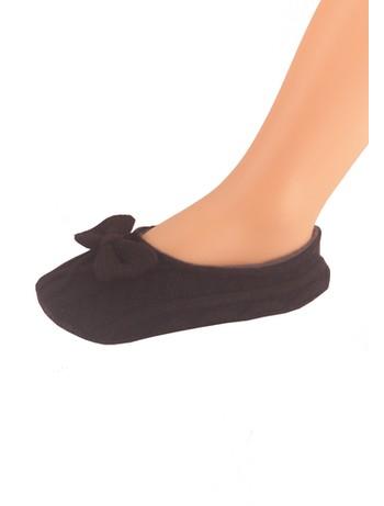 Elbeo Trend Ballerina Hausschuh schwarz