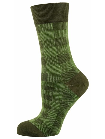 Elbeo Socke Alena Baumwollsocken grün