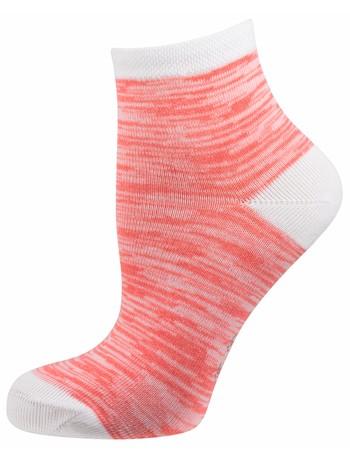 Elbeo Molina Trend Socke Mouliné-Musterung koralle/weiß melange