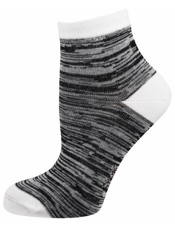 Elbeo Molina Trend Socke Mouliné-Musterung grau/weiß melange
