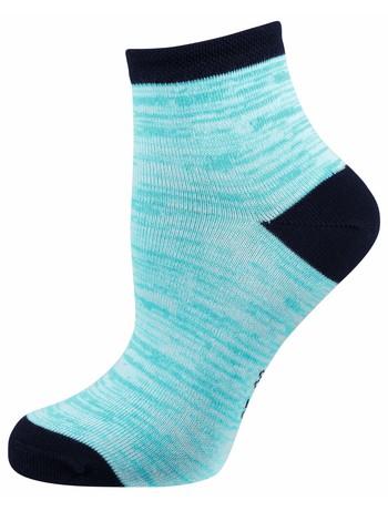 Elbeo Molina Trend Socke Mouliné-Musterung azur/weiß melange