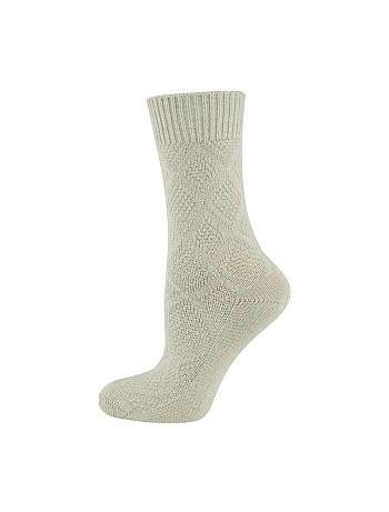 Elbeo Bamboo Seidenweich Socken leinen mel.