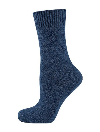 Elbeo Bamboo Seidenweich Socken denim mel.