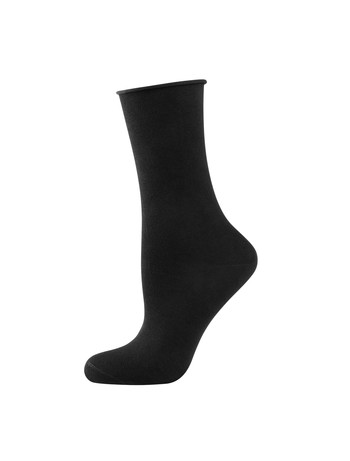 Elbeo Light Cotton Rollbund Socken schwarz