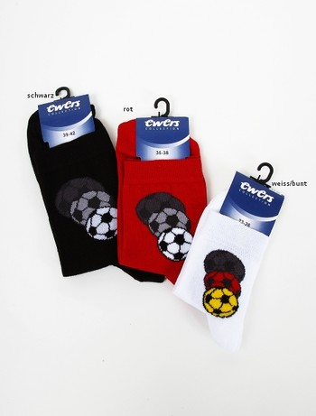 Ewers Socke mit Fussballmotiv, im Nylon und Strumpfhosen Shop