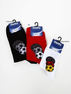 Ewers Socke mit Fussballmotiv