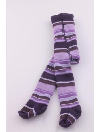 Ewers Baby geringelte Thermo Babystrumpfhose violet