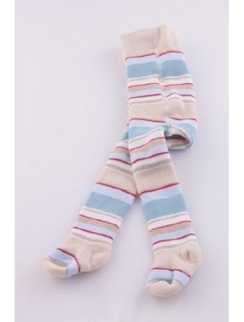 Ewers Baby geringelte Thermo Babystrumpfhose elfenbein