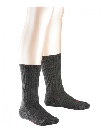 Falke Active Warm Kinder Socken asphalt meliert