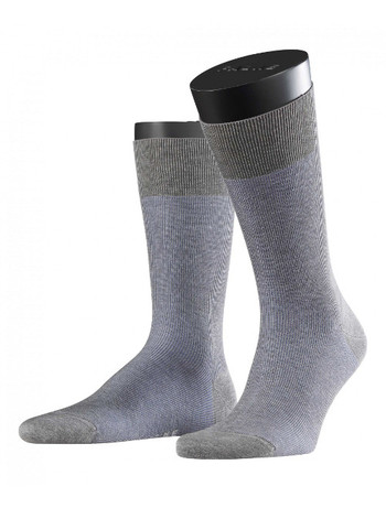 Falke Fine Shadow Herren Socken light grey mel.