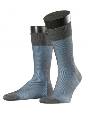 Falke Fine Shadow Herren Socken grey bleue