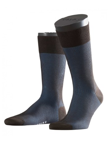 Falke Fine Shadow Herren Socken brown-indigo