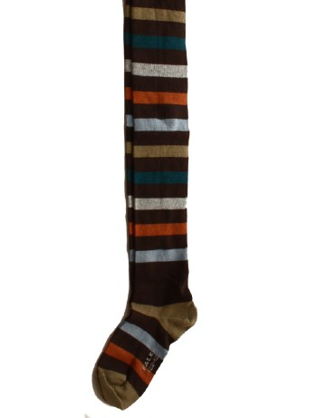 Falke New Stripe Kinder Strumpfhose darkbrown