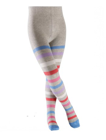Falke New Stripe Kinder Strumpfhose storm grey
