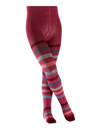 Falke New Stripe Kinder Strumpfhose raspberry