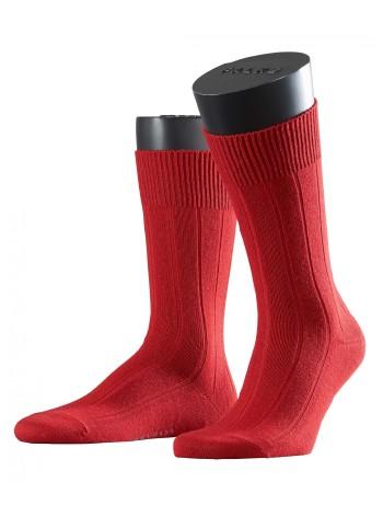 Falke Lhasa Rib Herren Socken cranberry
