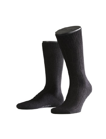 Falke Lhasa Rib Herren Socken schwarz