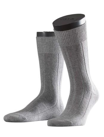 Falke Lhasa Rib Herren Socken hellgrau