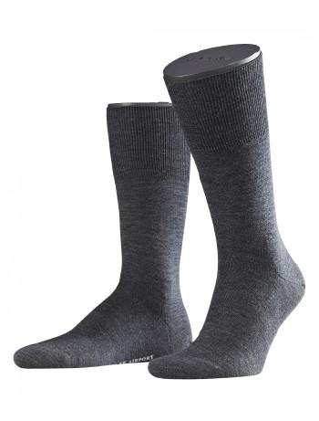 Falke Airport Herren Socken asphalt meliert