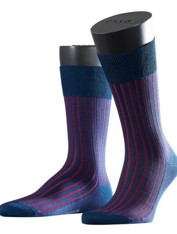 Falke Shadow Fil d´Ecosse gestreifte Socken fuer Herren, im Nylon und Strumpfhosen Shop