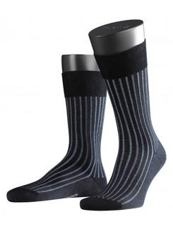 Falke Shadow Fil d'Ecosse gestreifte Socken Herren