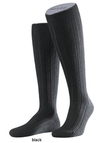 Falke Teppich im Schuh Herren Kniestrümpfe schwarz