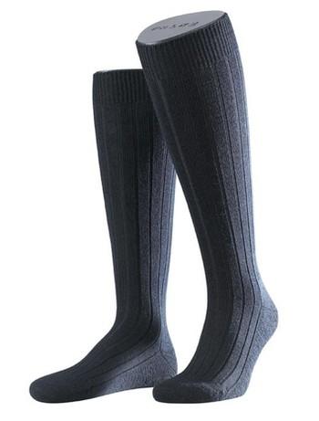 Falke Teppich im Schuh Herren Kniestrümpfe dunkel marine