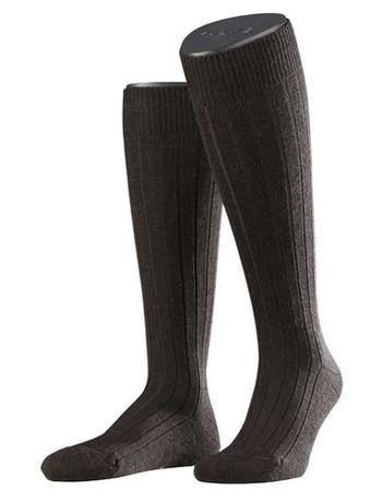 Falke Teppich im Schuh Herren Kniestrümpfe dark brown