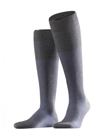 Falke Fine Shadow Herren Kniestrümpfe light grey mel.