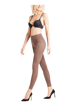 Falke Cotton Touch - Leggings mud