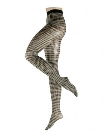 Falke Fashion Pied de Poule Strumpfhose, im Nylon und Strumpfhosen Shop