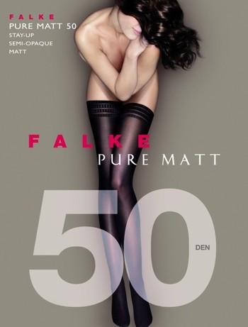Falke Pure Matt 50 Halterlose Struempfe, im Nylon und Strumpfhosen Shop