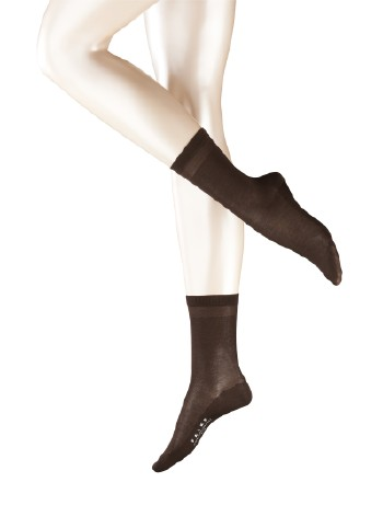 Falke Cotton Delight Damen Socken darkbrown
