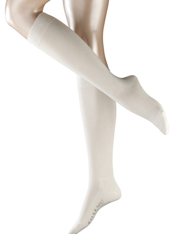 Falke Family Damen Kniestrümpfe off white