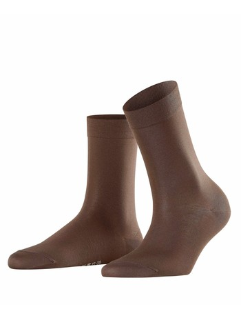Falke Cotton Touch Damen Socken darkbrown