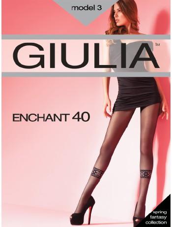Giulia Enchant 40 Ajour Dekor Strumpfhose, im Nylon und Strumpfhosen Shop