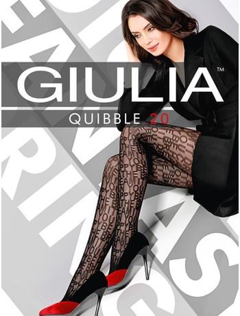 Giulia Quibble 20 gemusterte Strumpfhose nero