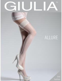 Giulia Allure 20 #5 gemusterte halterlose Strümpfe 20DEN