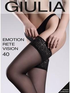 Giulia Emotion Rete Vision 40 Halterlose Netzstrümpfe